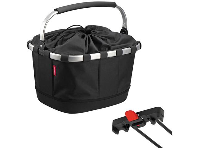 KlickFix Reisenthel Carrybag GT Fahrradkorb für Racktime schwarz